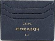 etched card holder in navy