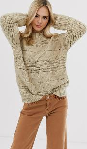 Chunky Cable Knit Oversized Jumper