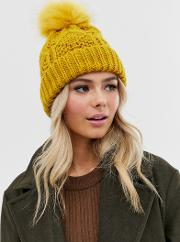 Chunky Cable Knitted Beanie Hat