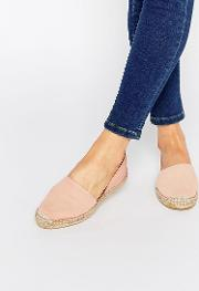 jasha nude pink leather espadrille two part flat shoes