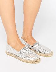 katie metallic leather espadrilles
