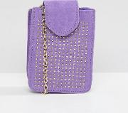 Studded Camera Bag With Cross Body Chain