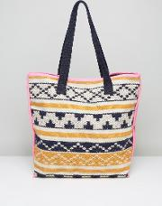 tapestry beach tote bag