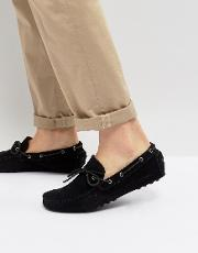 moccasin drivers  black suede