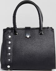 medium tote bag with studded strap