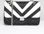 mono quilted cross body bag