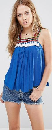 Bacoor Tassel Trapeze Top