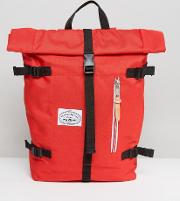 Classic Rolltop Backpack In Red