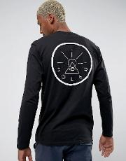 long sleeve t shirt with golden circle back print