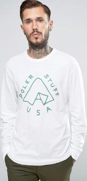 Long Sleeve T Shirt With Tent Logo