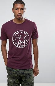 t shirt with camp vibes logo