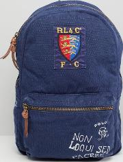 canvas large player logo backpack in navy