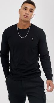 Long Sleeve Top With Polo Player