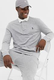 Regular Fit Long Sleeve Rugby Polo
