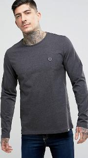 Mitchell Long Sleeve Crew Neck  Shirt In Grey