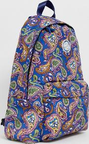 Nylon All Over Paisley Backpack