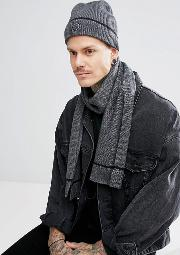 tipped beanie & scarf gift set with  box in