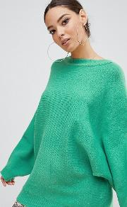 Exclusive Oversized Batwing Jumper