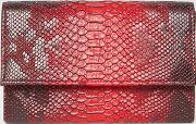 snake clutch bag in red