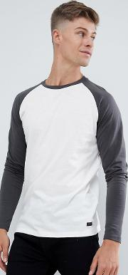 long sleeve t shirt with colour raglan