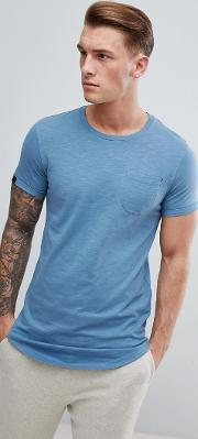 longline t shirt with curved hem