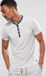 Shirt With Contrast Y Neck