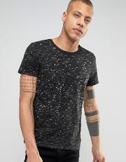 t shirt with fleck detail