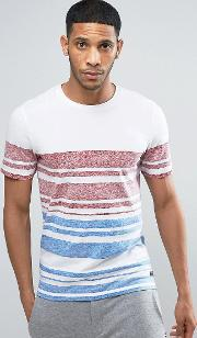 t shirt with multi stripe