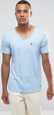 t shirt with pocket tape detail