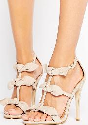Bow Heeled Sandals
