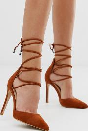 Classy Ankle Tie Heeled Shoes