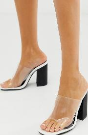 Exclusive Scarlette Square Toe Block Heeled Sandals
