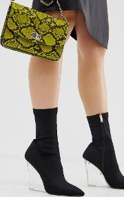Glance Clear Wedge Boots