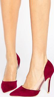keeley clear detail burgundy court shoes