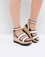 Black And White Wooden Wedge