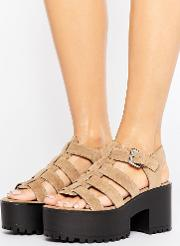 cage wedge sandals