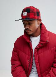 Cap In Red Check
