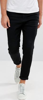 carrot fit jeans in black