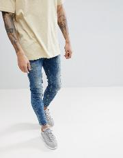 carrot fit jeans in blue