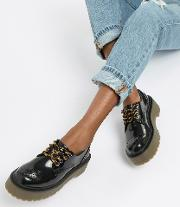 chunky sole brogues in black