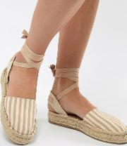 espadrille with tie ankle