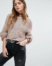 fine gage knitted jumper