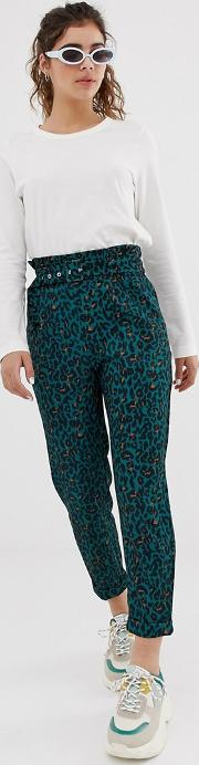 High Waisted Tapered Trouser