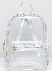 plastic backpack in clear