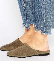 suede collapsible back shoe