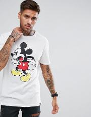 t shirt with mickey print  white