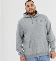 Plus Essentials Hoodie With Small Logo