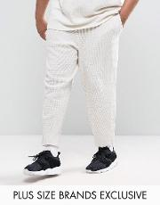 plus waffle joggers in grey exclusive to asos