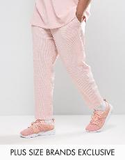 plus waffle joggers in pink exclusive to asos