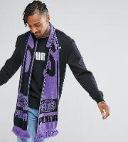 retro football scarf in purple exclusive to asos